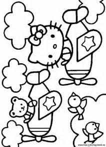 Girly Hello Kitty Coloring Pages