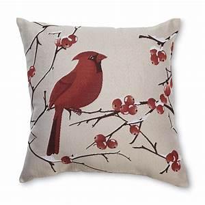 Seasonal, Decorative, Throw, Pillow, -, Cardinal, -, Home, -, Home, Decor