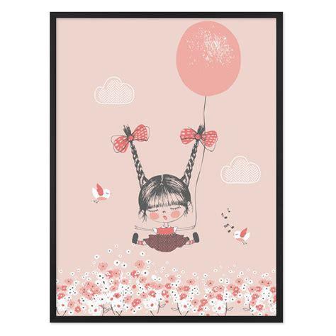 Leinwandbild Kinderzimmer Mädchen by Kinder Poster M 228 Dchen Mit Ballon 30x40 Cm Kinderzimmer