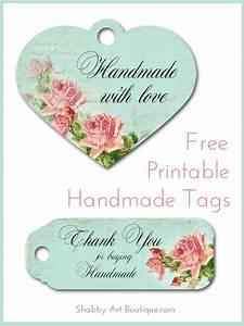 free printable handmade tags shabby art boutique With free printable labels for handmade items