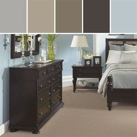 in my bedroom i have large very dark brown furniture what colors should i paint my walls to