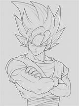 Goku Coloring Permanently Moved Cool sketch template
