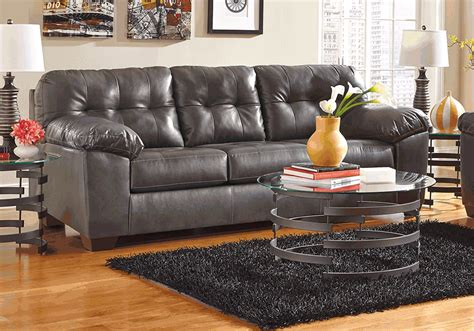 Alliston Durablend® Gray Queen Sleeper Sofa 3 Piece Leather Sectional Sofa Tulsa Ekornes Manhattan Corner Sale Average Weight Of A Futon Bed Queen Snack Table Target Microfiber Contemporary