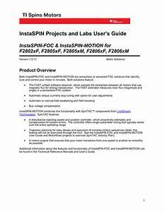 Instaspin Projects And Labs User S Guide