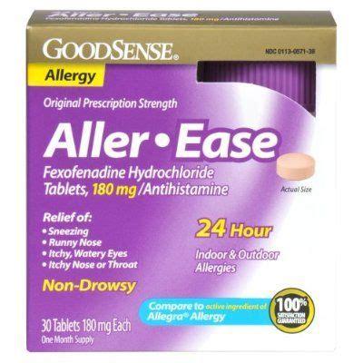 goodsense aller ease fexofenadine hydrochloride tablets