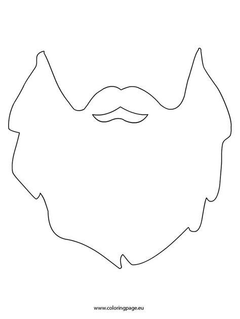 beard template beard printable szablony