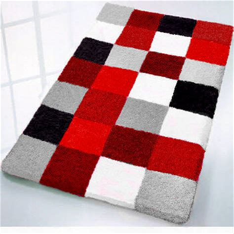 red and black bathroom rugs rugs ideas
