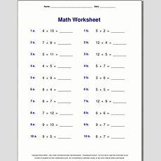 Multiplication Worksheets For Grade 3  Extramath Math