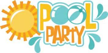 blank wedding invitations pool party clip