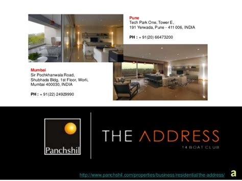 Boat Club Address by The Address Luxury Apartments On Boat Club Road In