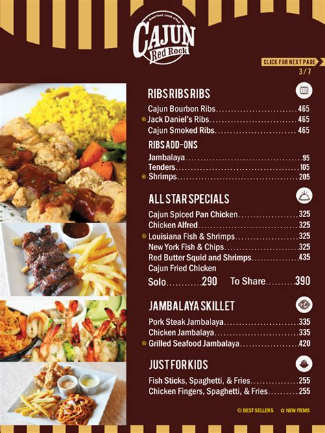 cajun red rock restaurant home mandaluyong menu