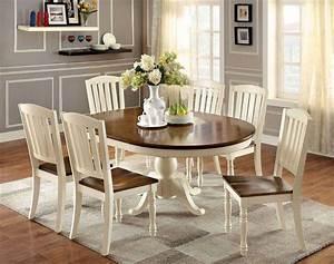 7 Piece Harrisburg Round To Oval Dining Set in Vintage