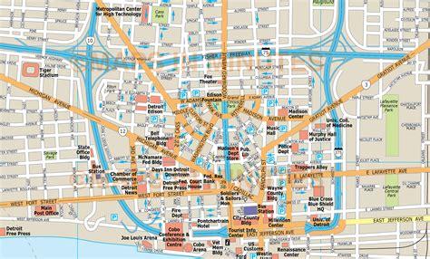 royalty  detroit illustrator vector format city map