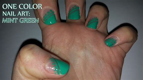 one color nails one color nail mint green