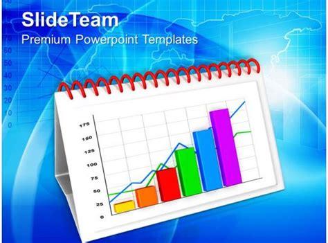 monthly progress report  bar graph powerpoint templates