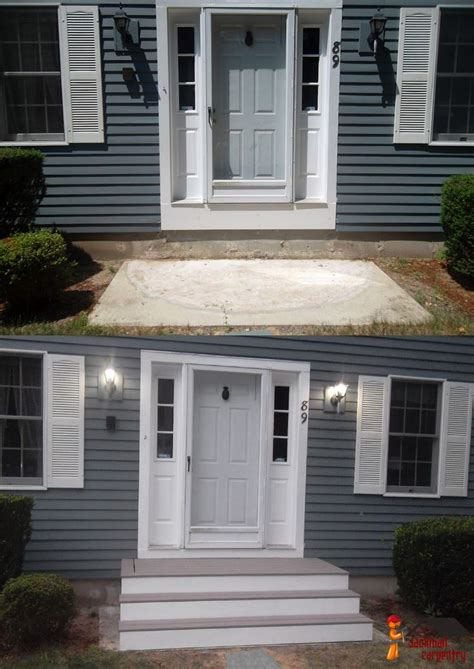 front entry stairs front door steps home deck remodeling for the home pinterest