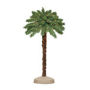 shop 4 ft indoor outdoor palm pre lit decorative specialty tree with 100 count clear lights at