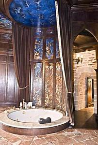 Master bathroom on third level medieval castle de for Bathrooms in castles