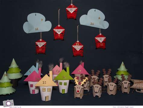 bastelideen weihnachten einfach adventskalender selber machen weihnachten aus klorollen adventskalender basteln diy