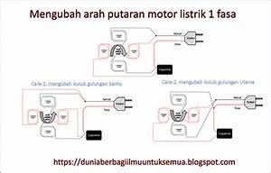 Cara Merubah Arah Putaran Motor Listrik 1 Fasa Dan 3 Fasa