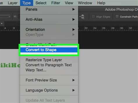 Convert Text To Image How To Convert Text To Outline In Photoshop 10 Steps
