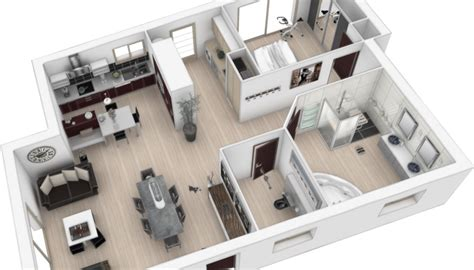 plan en 3d cuisine cuisine aménagée création de salle de bain quimper pont