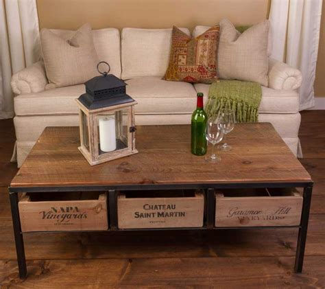 wine country coffee table farmhouse  cottage