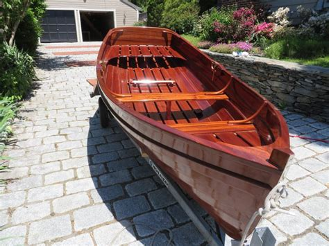 Wooden Dinghy Boat For Sale by Mahogany Lapstrake Rowboat Dinghy Custom Built Brand New