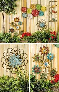 outside wall decor Truly Easy and Low-budget DIY Garden Art Flowers - Amazing DIY, Interior & Home Design