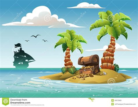 Chest Clipart Treasure Island