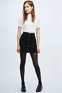 Best 25+ Black denim skirt ideas on Pinterest | Black denim skirt outfit winter Black denim ...