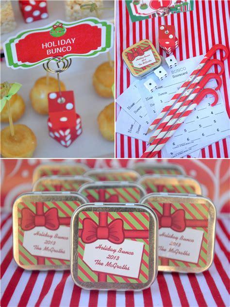 fun christmas holiday bunco party ideas party ideas