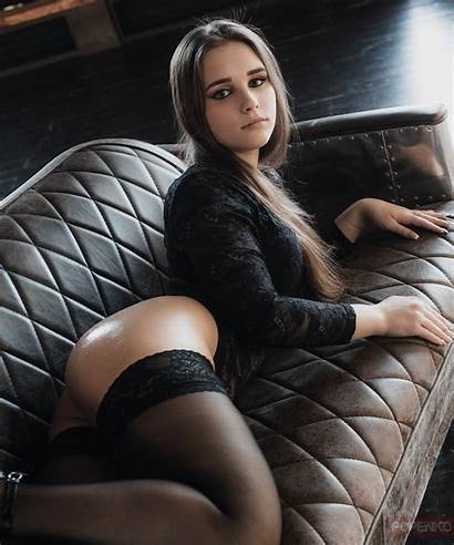 Lingerie Couch Stockings Ass Andrey Popenko Wallhere
