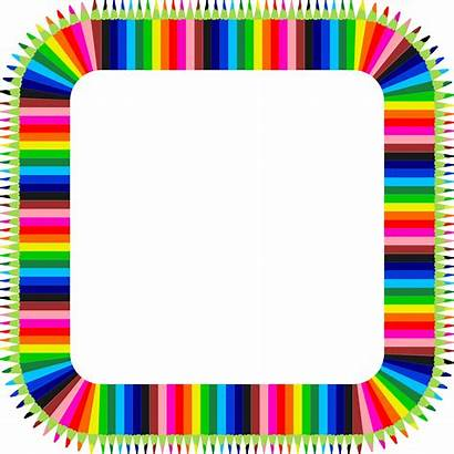 Clipart Colorful Frame Pencils Pencil Circle Webstockreview