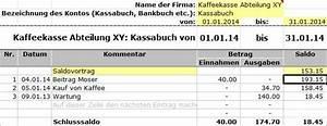 Budget Rechnung : kostenloser download excel kassabuch vereinsbuchhaltung ~ Themetempest.com Abrechnung