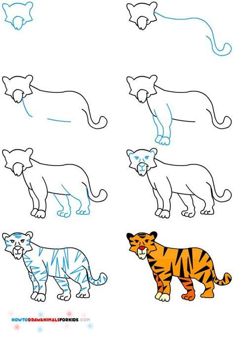 easy tiger drawing ideas  pinterest rabbit