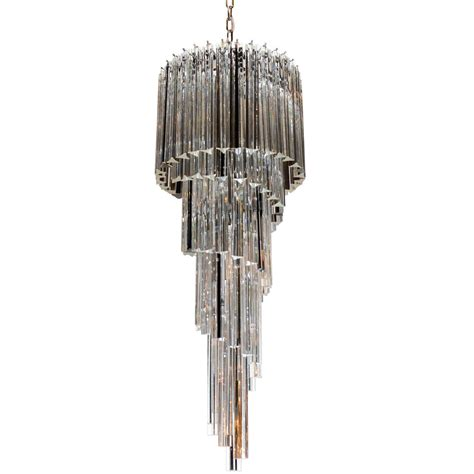 cascading glass chandelier cascading spiral clear and black murano glass camer