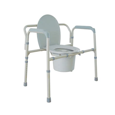 heavy duty bariatric folding bedside commode chair leika