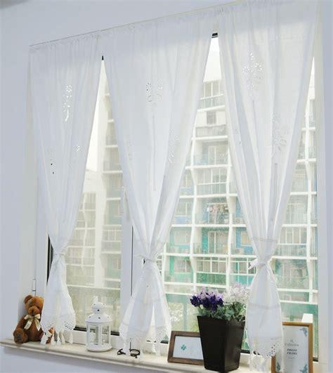 White Cotton Kitchen Curtains by White Cotton Pierced Crochet Lace Handmade Kitchen