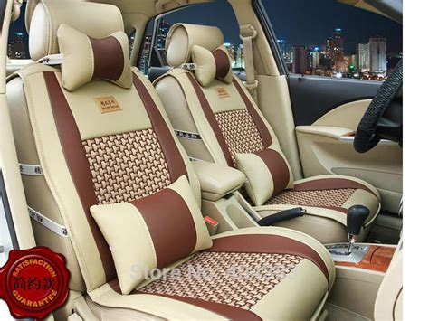 styling luxury leather car seat covers cushion front