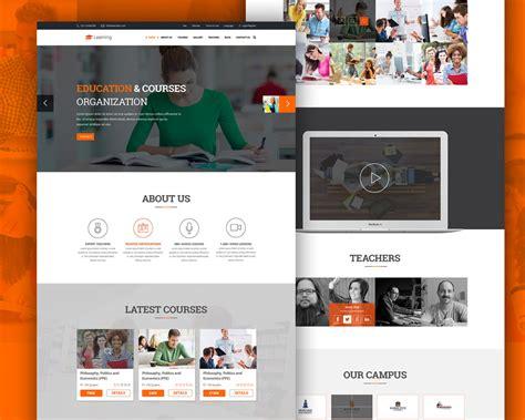 elearning education website  psd template