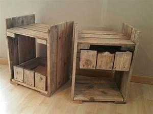 Table En Palette : fabriquer une table de chevet en palette d coration ~ Melissatoandfro.com Idées de Décoration