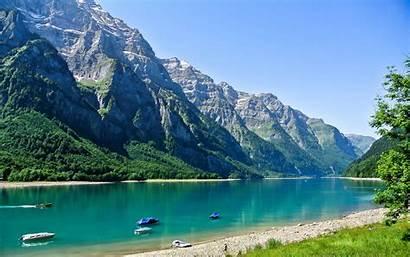 Switzerland Scenery Lake Mountains Nature Glarus Wallpapers