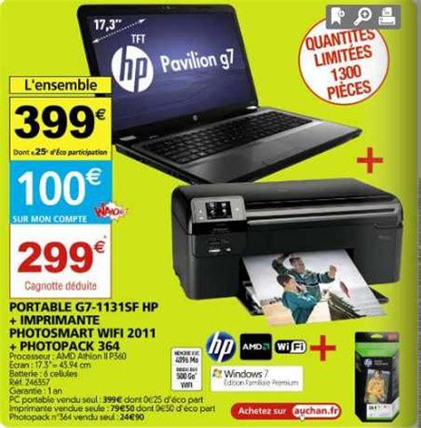 pc bureau auchan pc portable imprimante qui reviennent à moins de 300