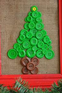 Button, Christmas, Tree