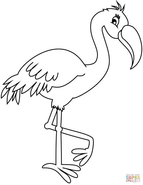 Flamingo Kleurplaat by Flamingo Kleurplaat Gratis Kleurplaten Printen