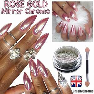 Rose Gold Sprühlack : rose gold nail mirror chrome powder effect pigment nails silver pink purple uk ebay ~ Avissmed.com Haus und Dekorationen