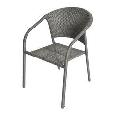 shop allen roth palm west gray woven seat steel