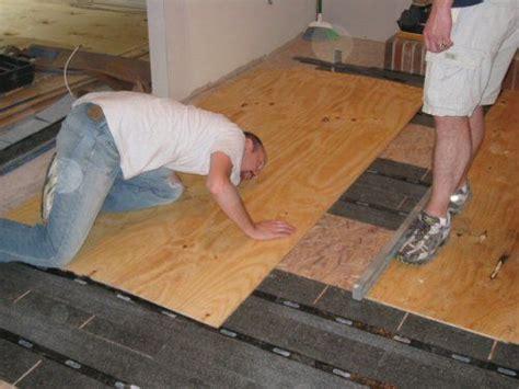 level  plywood  osb subfloor  asphalt