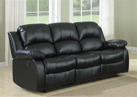 black leather reclining sofa homelegance cranley double reclining sofa black bonded